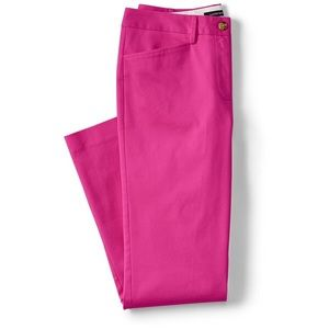 NWT Lands End Hot Pink Cropped Pants 2